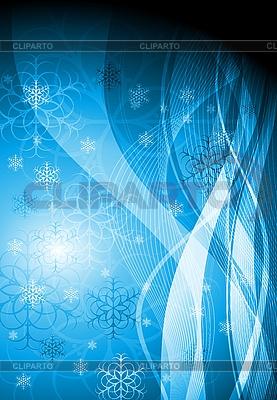 Abstrakter blauer Weihnachtshintergrund | Stock Vektorgrafik |ID 3076677