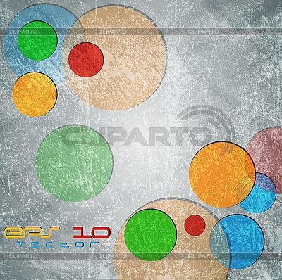Bunte Kreise auf Grunge-Hintergrund | Stock Vektorgrafik |ID 3107205