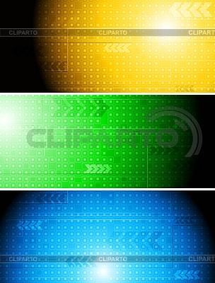Kolorowe banery techniczne | Klipart wektorowy |ID 3107220