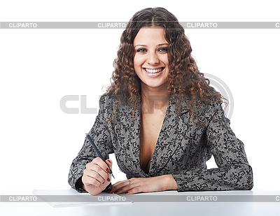 Красивая улыбающаяся деловая женщина | Фото большого размера |ID 3023075