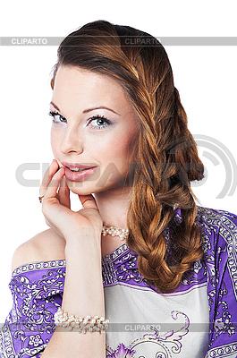 Piękna kobieta romantyczny | Foto stockowe wysokiej rozdzielczości |ID 3024252