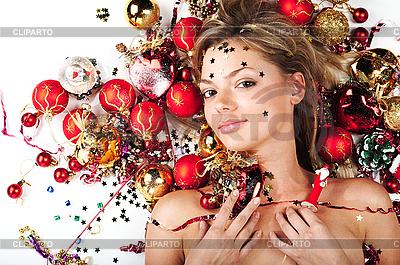 Новогодняя девушка | Фото большого размера |ID 3024260
