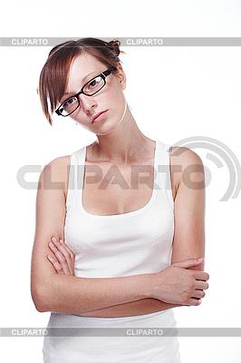 Studentin mit Brille | Foto mit hoher Auflösung |ID 3024290