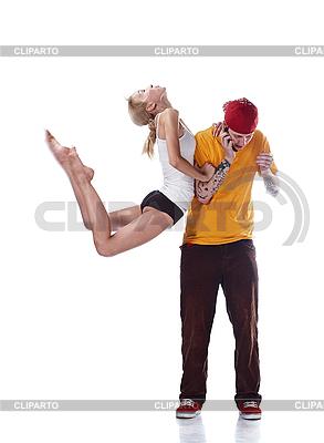 Junge Ballerina sprint und junger Hip-Hop-Tänzer | Foto mit hoher Auflösung |ID 3032482