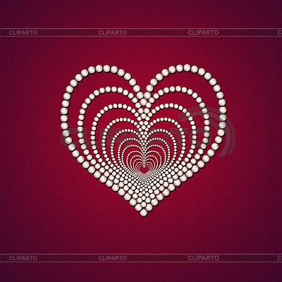 Serce z perłą | Stockowa ilustracja wysokiej rozdzielczości |ID 3024128