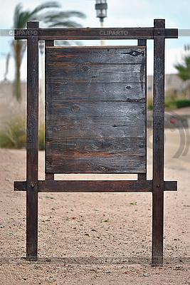 Holz-Infotafel | Foto mit hoher Auflösung |ID 3094390