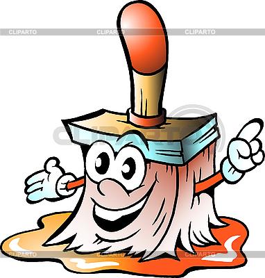Glückliches Pinsel-Mascot | Stock Vektorgrafik |ID 3031671