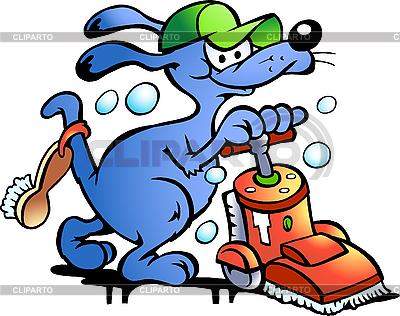 Carpet Cleaner Dog | Klipart wektorowy |ID 3031707