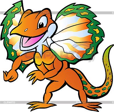 Lizard w kolorowy blask | Klipart wektorowy |ID 3031753