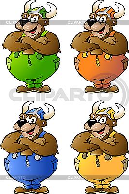 Viking Bears w kolorowe kombinezony | Klipart wektorowy |ID 3031771