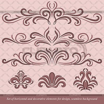 Horizontal ornaments | Klipart wektorowy |ID 3064247