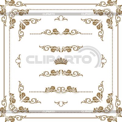 Dekoracyjne ramki | Klipart wektorowy |ID 3284020