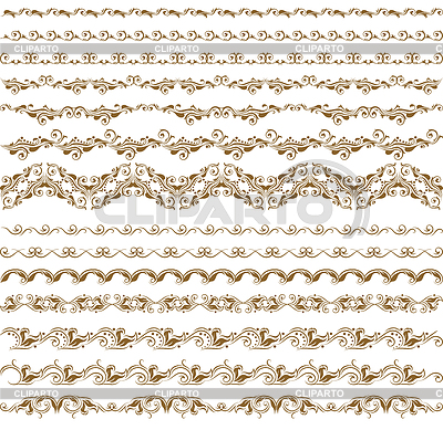 Poziome elementy dekoracji | Klipart wektorowy |ID 3290521