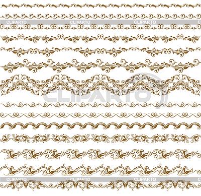 Horizontale Dekoration-Elemente | Stock Vektorgrafik |ID 3290521