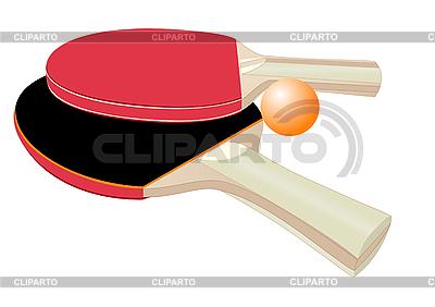 Rakiety do tenisa stołowego | Klipart wektorowy |ID 3039662