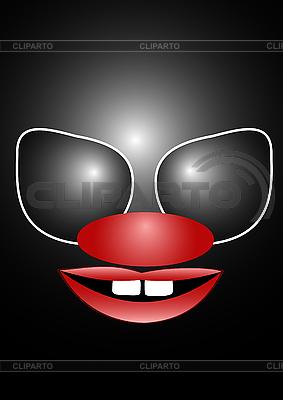 Beängstigende Clownsmaske | Stock Vektorgrafik |ID 3046585