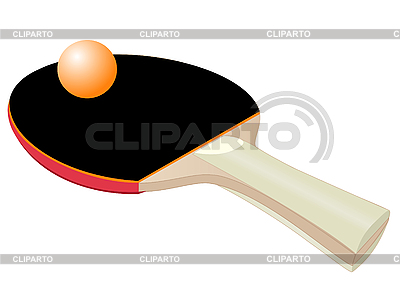 Racket für Tischtennis | Stock Vektorgrafik |ID 3054592