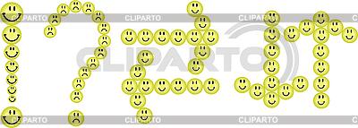 Zeichen aus Smileys | Stock Vektorgrafik |ID 3072973