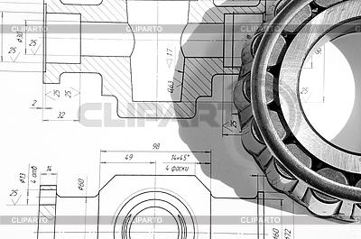 Mechaniczne rysunek i łożysko | Foto stockowe wysokiej rozdzielczości |ID 3061616