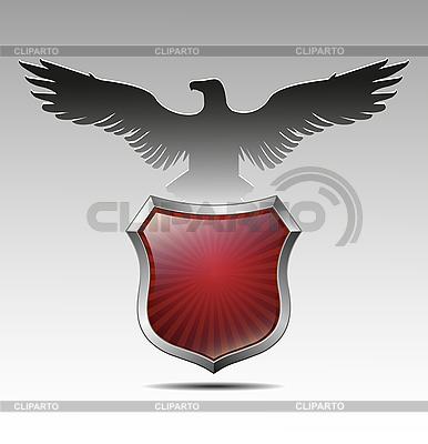 Орел над геральдическим щитом | Векторный клипарт |ID 3039709
