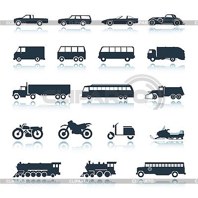 Ikony pojazdów | Klipart wektorowy |ID 3039754