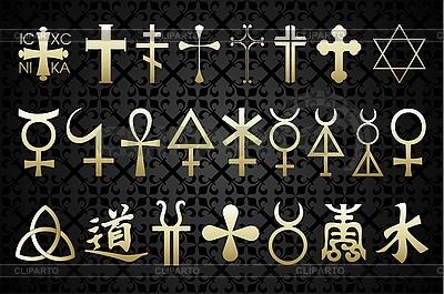 Symbole religijne | Klipart wektorowy |ID 3041067