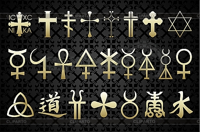 Religiöse Symbole | Stock Vektorgrafik |ID 3041067