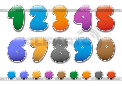 Dekoracyjne numerów ustaw | Klipart wektorowy |ID 3045315