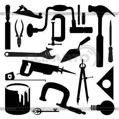 Silhouetten von Werkzeugen | Stock Vektorgrafik |ID 3045993
