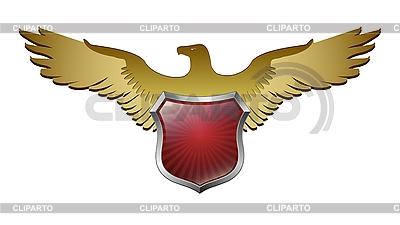 Adler über dem Schild | Stock Vektorgrafik |ID 3056266