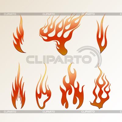 Rote Flammen | Stock Vektorgrafik |ID 3056284