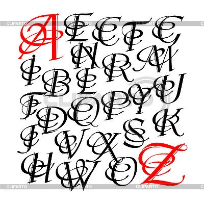 Litery kaligraficzne | Klipart wektorowy |ID 3178478