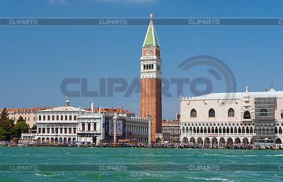 Blick aus dem Meer auf Piazza San Marco und Dogenpalast | Foto mit hoher Auflösung |ID 3039794