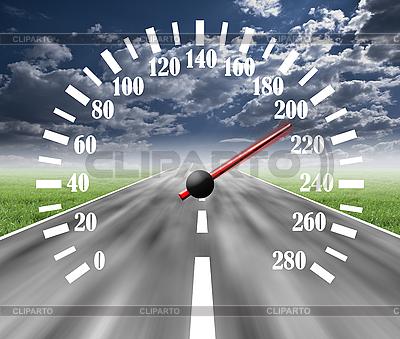 Autobahn mit Tachometer | Foto mit hoher Auflösung |ID 3040518
