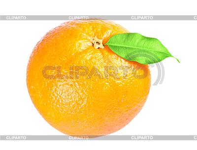 Dojrzałe pomarańczowy z liściem | Foto stockowe wysokiej rozdzielczości |ID 3143940