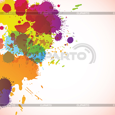 Abstrakte farbige Klekse | Stock Vektorgrafik |ID 3071163