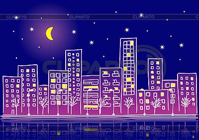 W nocy miasto | Klipart wektorowy |ID 3072891