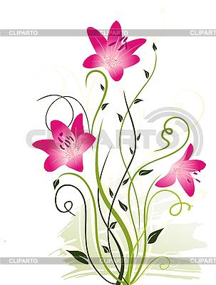 Rosige Blumen | Stock Vektorgrafik |ID 3073037