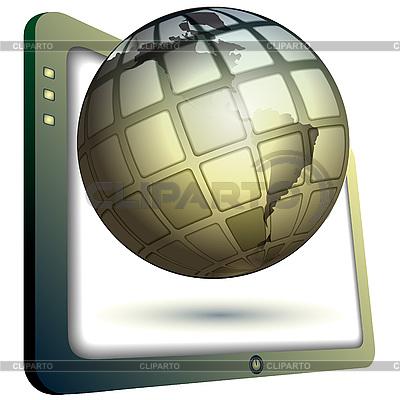Globus und Monitor | Illustration mit hoher Auflösung |ID 3045615
