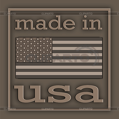Etikett Made in USA | Illustration mit hoher Auflösung |ID 3045632