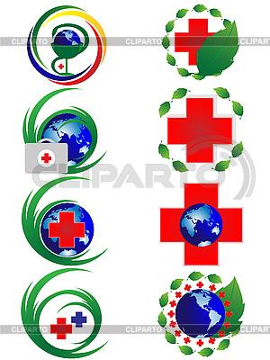 Set von medizinischen Zeichen | Stock Vektorgrafik |ID 3047637
