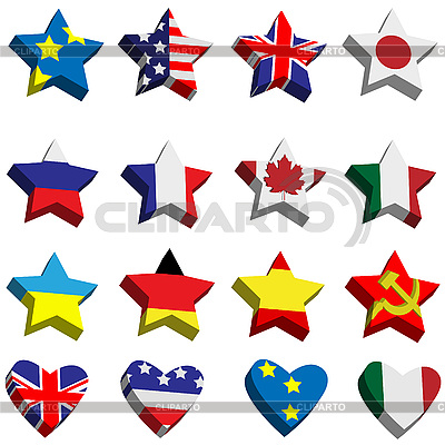 флаги круглые