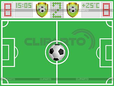 Boisko do piłki nożnej i sportu board | Klipart wektorowy |ID 3071916