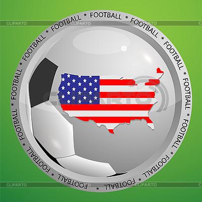 Fußball-Icon mit US-Karte | Stock Vektorgrafik |ID 3071922