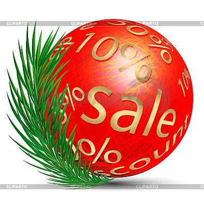 Weihnachtskugel und Rabatt | Stock Vektorgrafik |ID 3072461