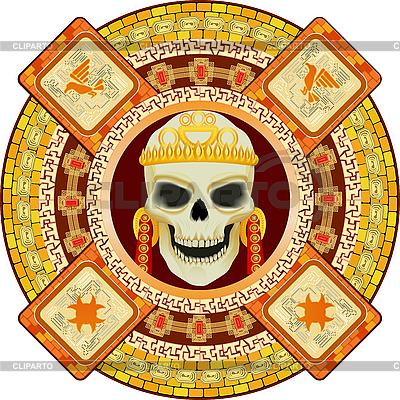 Aztekischer Gott des Todes | Stock Vektorgrafik |ID 3063029