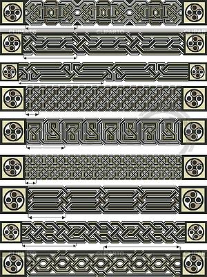 Ozdoby Celtic style | Klipart wektorowy |ID 3105732