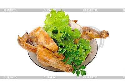 신선한 야채와 함께 구운 된 닭 | 높은 해상도 사진 |ID 3040294