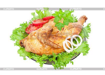Gegrilltes Huhn mit frischem Gemüse | Foto mit hoher Auflösung |ID 3044221