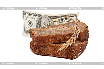 Dollar z kromka chleba | Foto stockowe wysokiej rozdzielczości |ID 3044410
